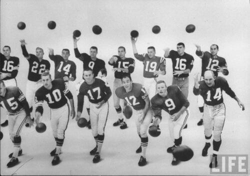 LIFE 1961 Quarterbacks Photo