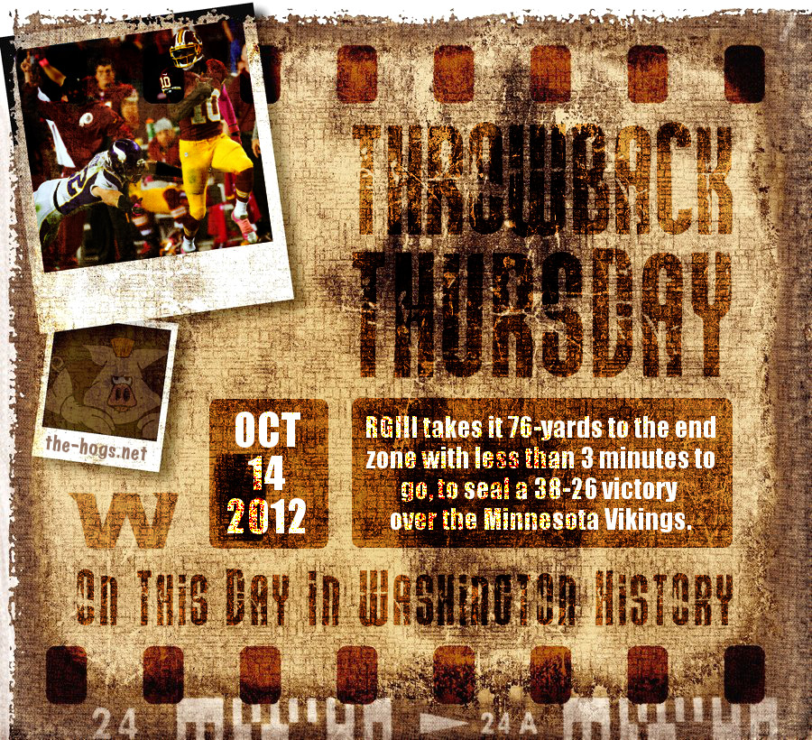 Throwback Thursday October 14th