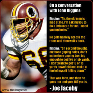 Jacoby quote on Riggins
