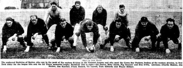 1936 Boston Redskins
